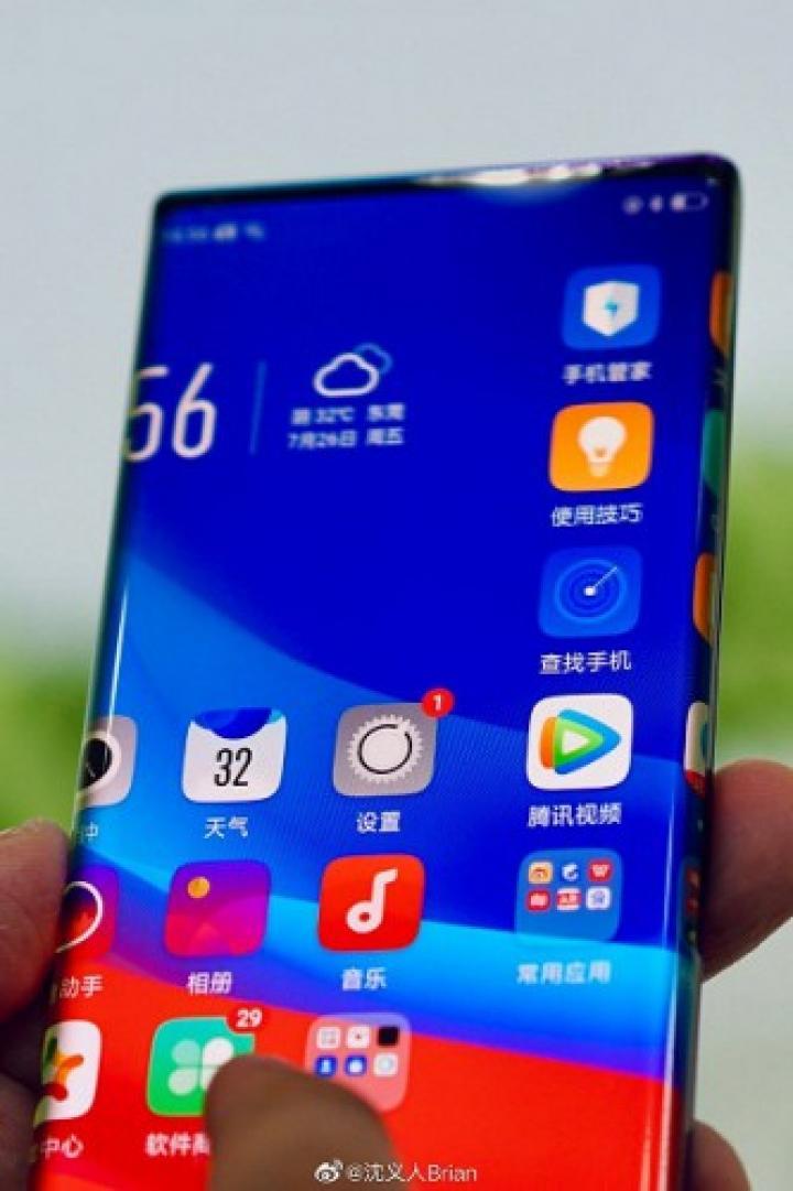 Oppo выпустит смартфон с экраном-водопадом (фото)