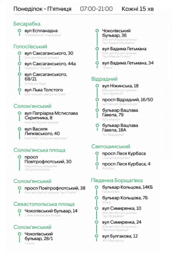 Uber Shuttle запустил новый маршрут в Киеве (инфографика)