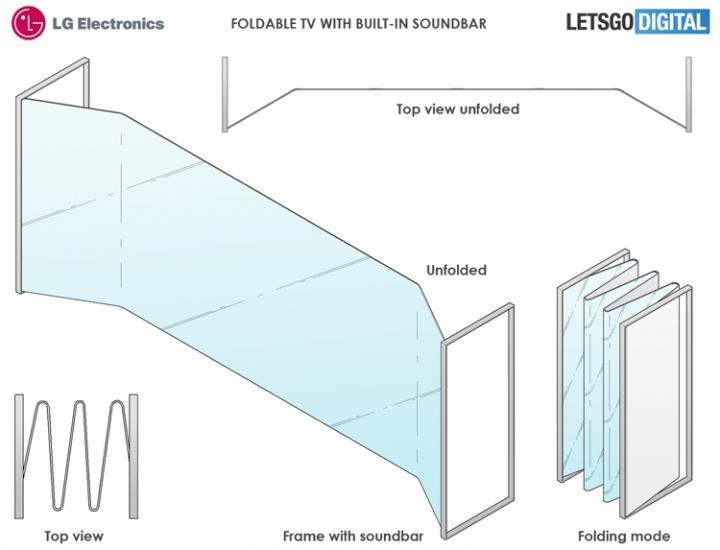 LG может спроектировать складной телевизор-гармошку