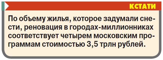 Возможна ли в России реновация всей страны?