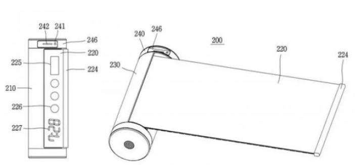 LG работает над уникальным смартфоном цилиндрической формы с выдвижным дисплеем (патент)