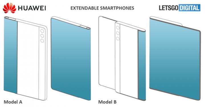 Huawei раздумывает над смартфонами с «растягивающимся» дисплеем (фото)