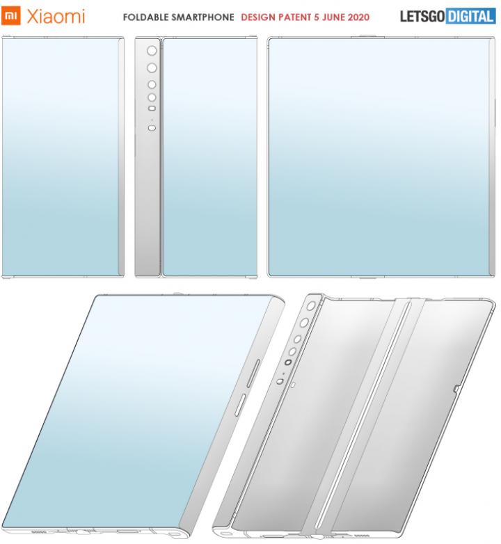 Xiaomi запатентовала сгибаемый смартфон с защёлкой для дисплея (фото)