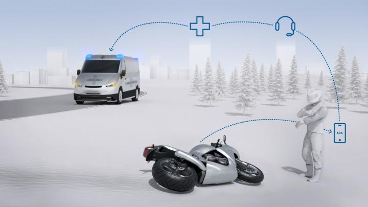 Bosch внедряет автоматические вызовы экстренной помощи для мотоциклистов в случае ДТП