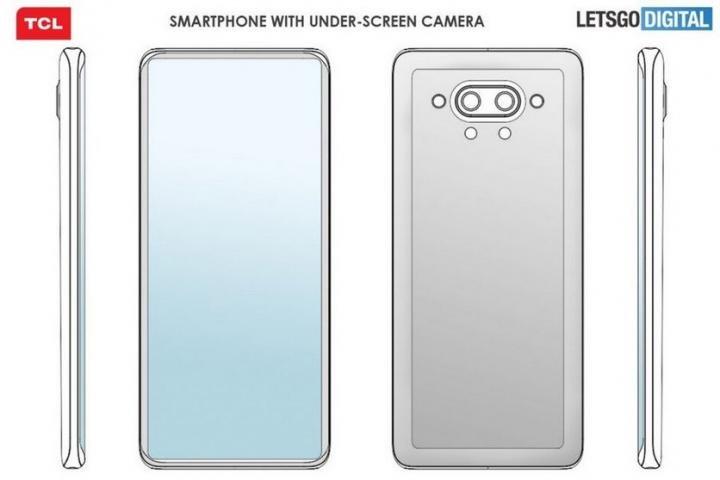 TCL придумала смартфон с подэкранной камерой и необычным дизайном