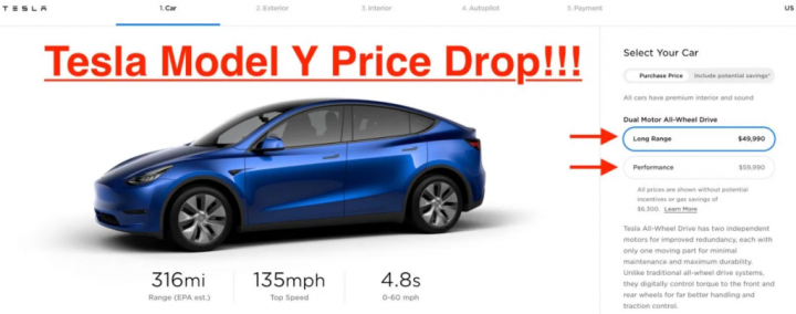 Tesla Model Y стала доступнее: компания снизила цену на электрокроссовер