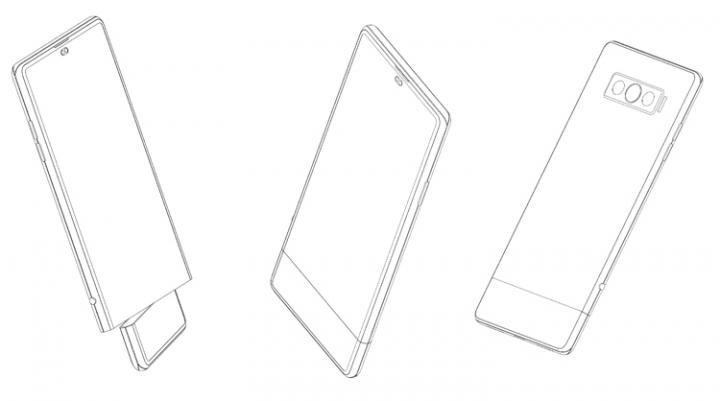 Vivo придумала смартфон с вращающейся секцией дисплея