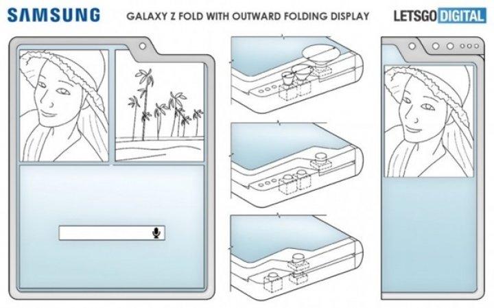 Samsung запатентовала три новые версии Galaxy Z Fold с гибким дисплеем