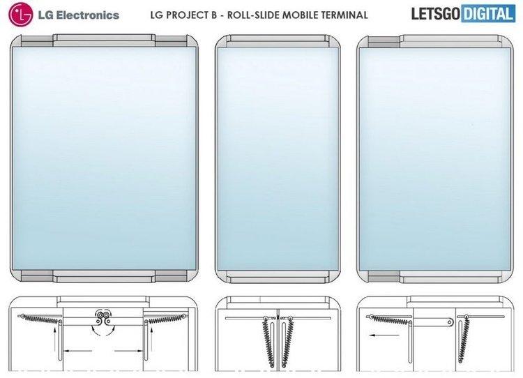 LG создаст смартфон, который сворачивается и разворачивается