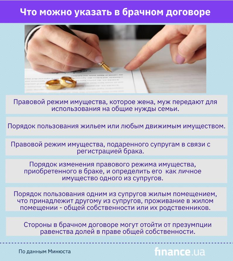 Как заключить брачный договор и что в нем прописать (инфографика)