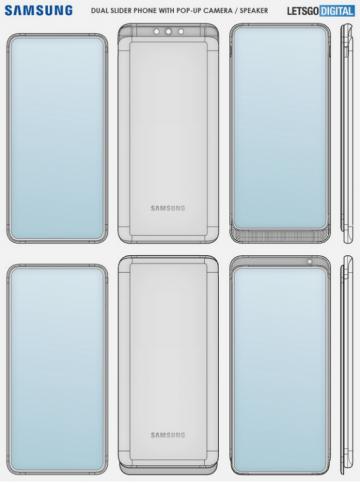 Samsung запатентовала необычный Android-слайдер с мощной акустикой