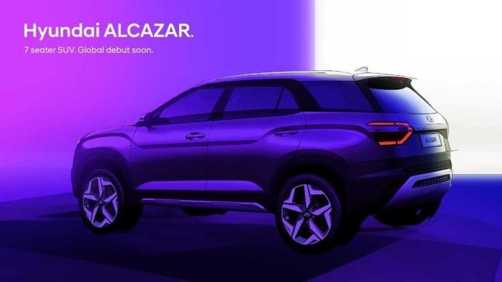 Hyundai Alcazar: производитель показал новый семиместный кроссовер на первом фото