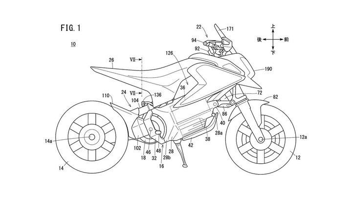 Honda патентует электрический мини-байк