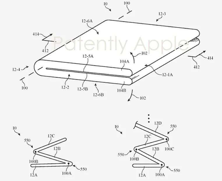 Apple запатентовала дизайн сгибаемого смартфона с оригинальной конструкцией