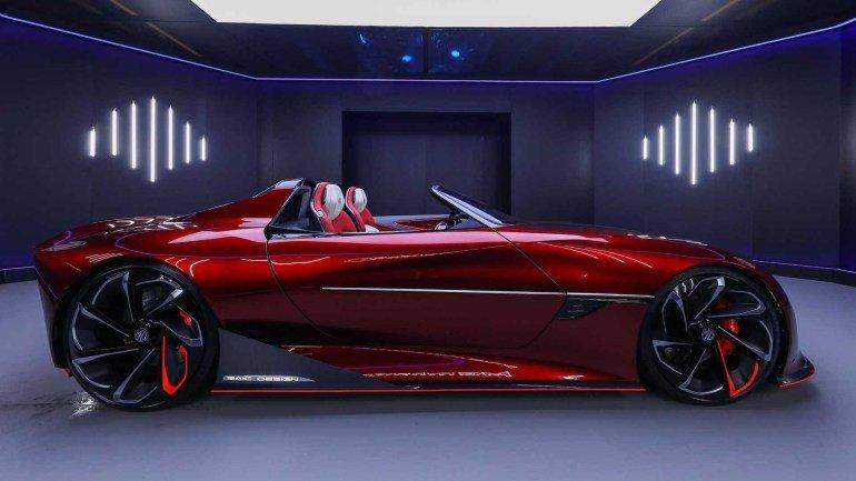 Футуристичный электрический концепт MG Cyberster станет серийной моделью