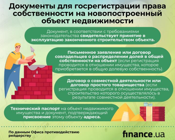 Регистрация права собственности на новый объект недвижимости: какие документы подавать