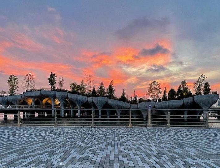 В Нью-Йорке открыли остров-парк на бетонных колоннах (фото)