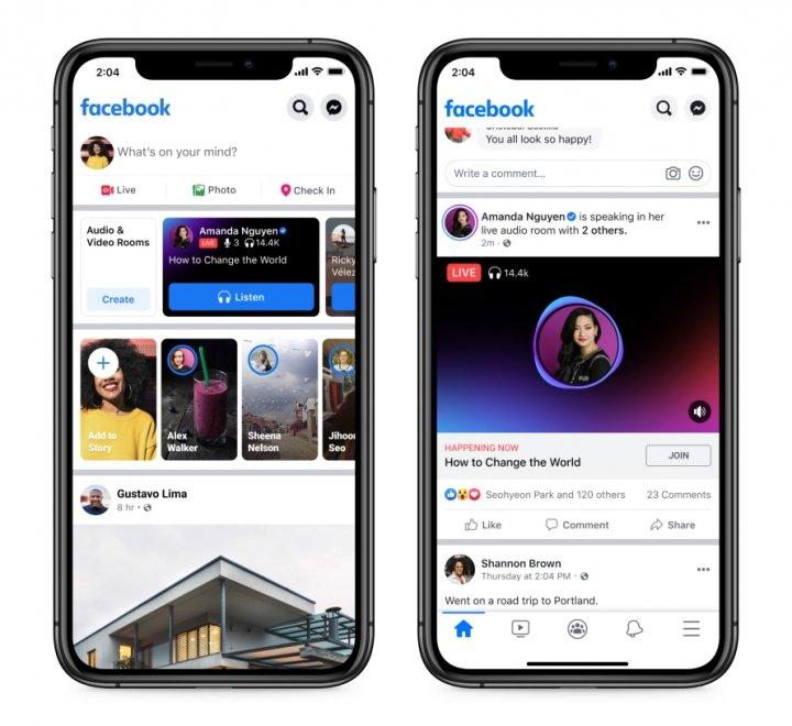 Facebook запустил аналог Clubhouse в США