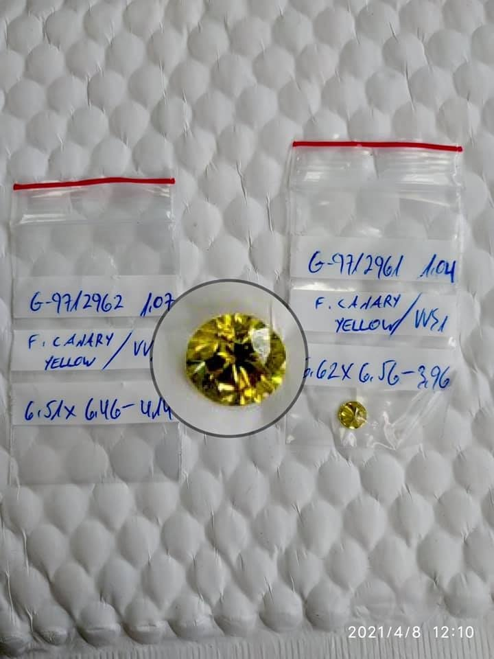 Киевские таможенники перехватили более 60 американских бриллиантов (фото)