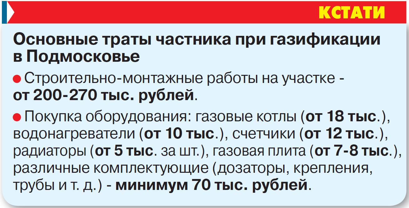Бесплатный газ от 300 тысяч рублей