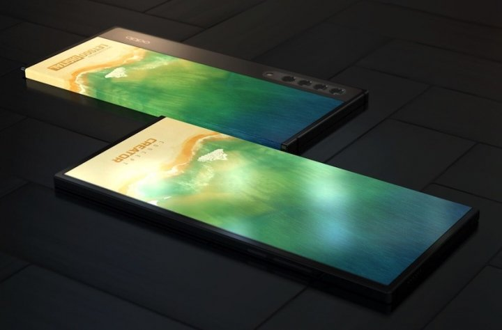 OPPO разработала смартфон с трёхсторонним дисплеем