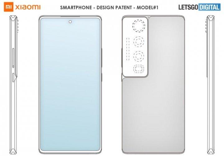 Xiaomi запатентовала смартфон с огромной системой камер