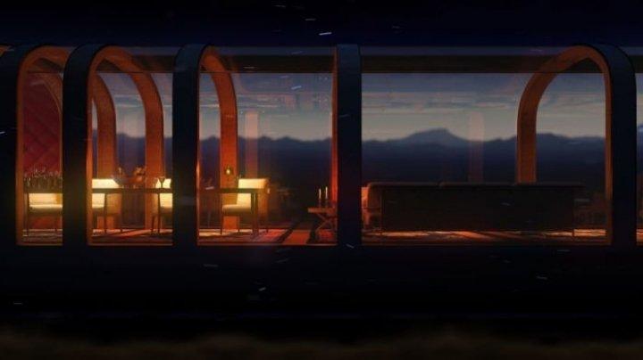 Представлен концепт частного поезда с прозрачными вагонами из интеллектуального стекла (фото)