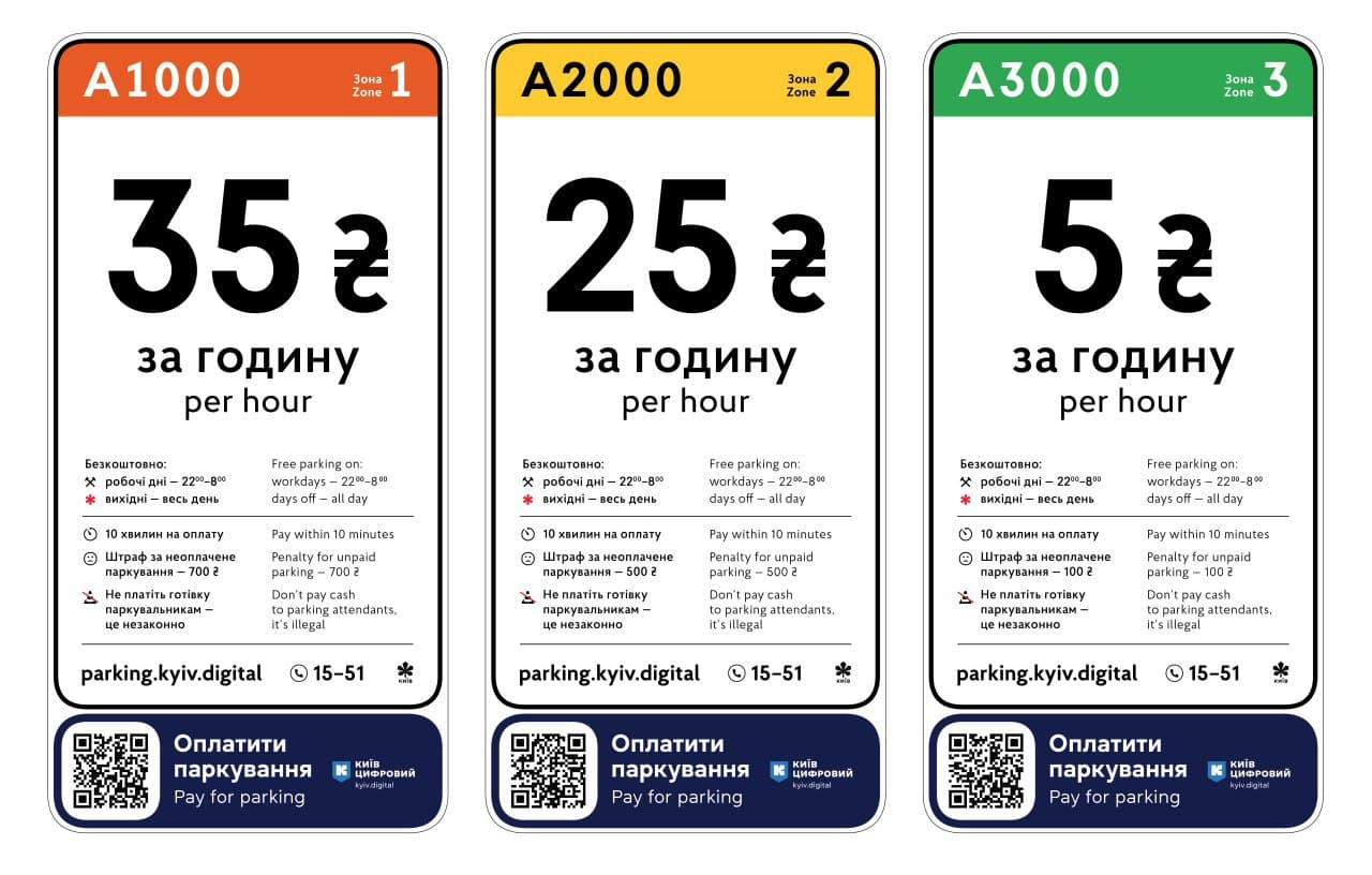 Киев поднял цены на парковку