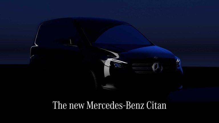 Mercedes-Benz показал на тизере новый Citan