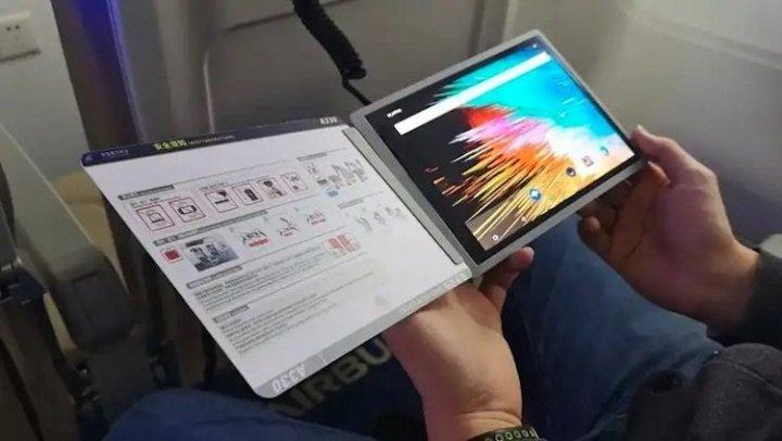 Airbus создала цифровой журнал с гибким OLED-дисплеем на замену бумажным изданиям в самолетах