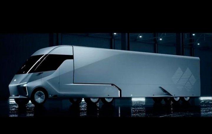 Главный конкурент Google представил электрический грузовик с автопилотом (фото, видео)